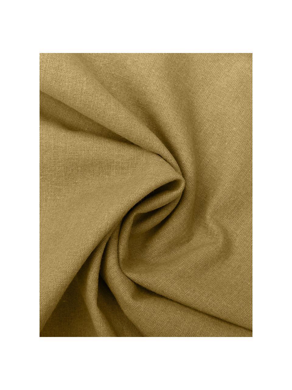 Pościel z bawełny z efektem sprania Arlene, Żółty, 240 x 220 cm + 2 poduszki 80 x 80 cm