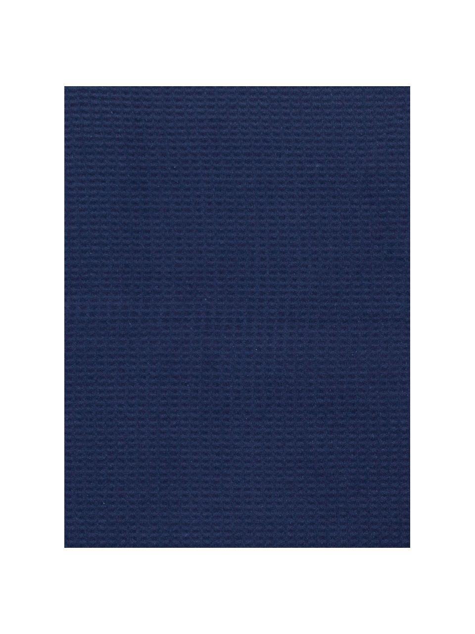 Einfarbiges Waffelpiqué-Plaid Sara in Dunkelblau, 50% Baumwolle, 50% Acryl, Dunkelblau, 140 x 180 cm