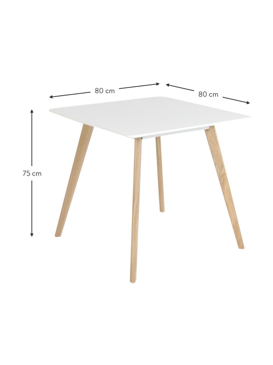Esstisch Flamy, 80 x 80 cm, Tischplatte: Mitteldichte Holzfaserpla, Weiß, B 80 x T 80 cm
