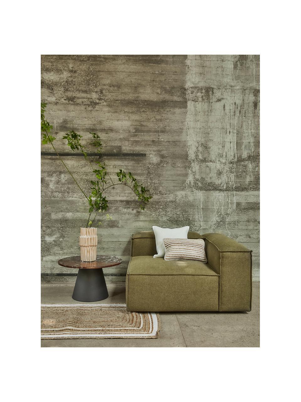 Handgewebte Jute-Fußmatte Clover, 100% Jute, Beige, 50 x 80 cm