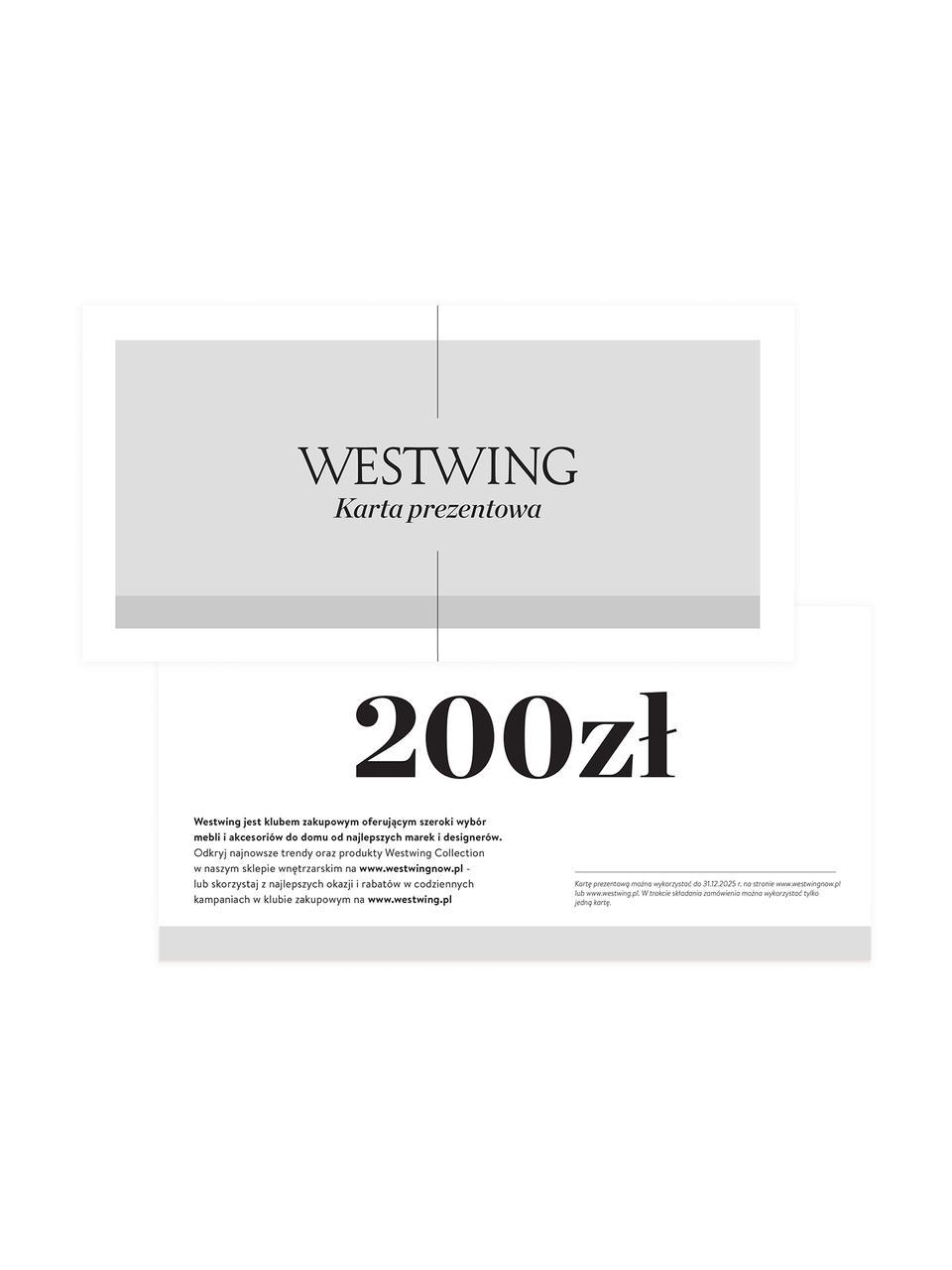 Karta prezentowa, Karta prezentowa z cienkiego papieru, w grubej kopercie, Biały, 200