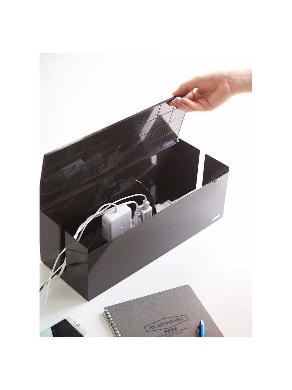 Pudełko na kable Web, Tworzywo sztuczne (poliwęglan), poliresing, Brązowy, S 40 x W 15 cm