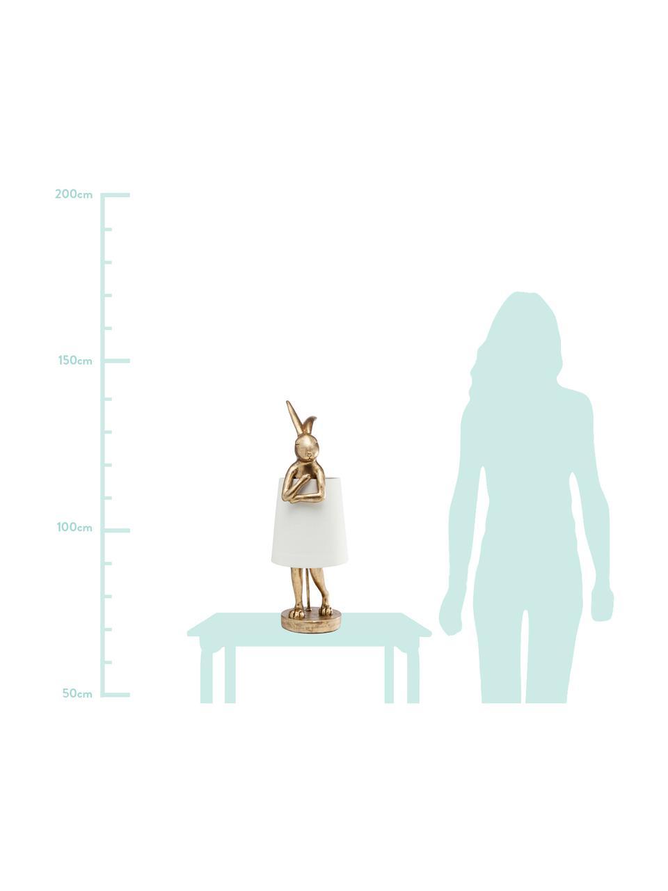 Grande lampe à poser design Rabbit, Blanc, couleur dorée