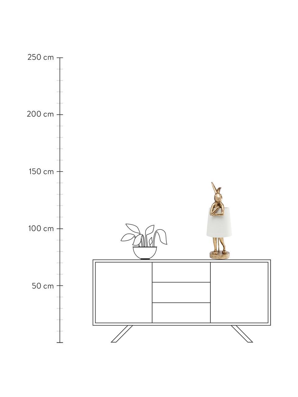 Velká designová stolní lampa Rabbit, Bílá, zlatá