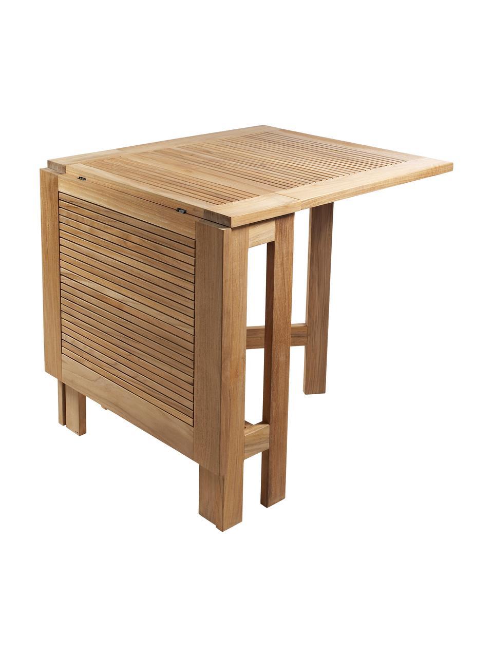 Verlängerbarer Gartentisch Butterfly aus Holz, Teakholz, geschliffen, Teak, 130 x 72 cm
