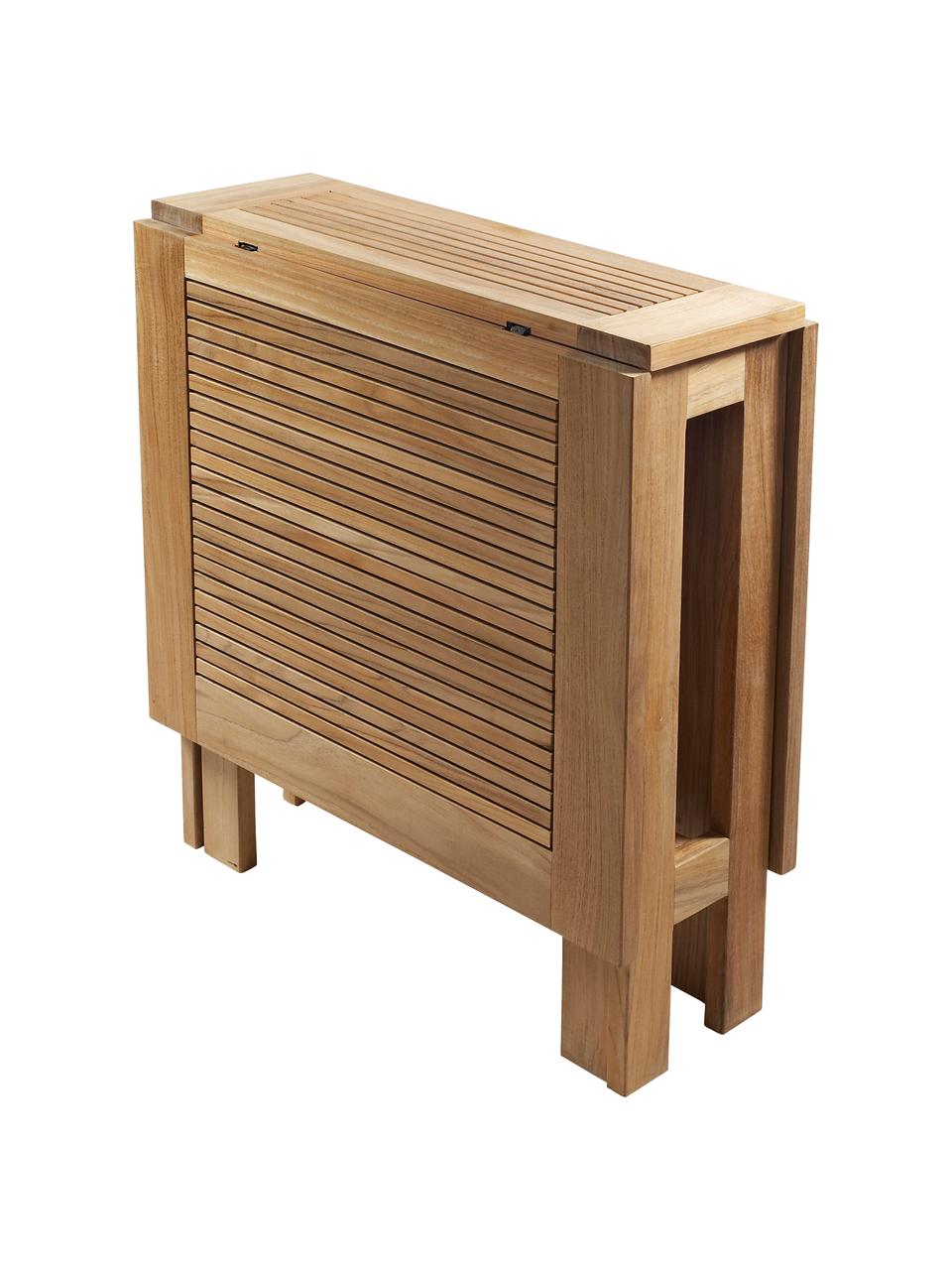 Tavolo pieghevole da giardino Butterfly, Legno di teak, sabbiato Possiede certificato V-legal, Teak, Larg. 130 x Alt. 72 cm