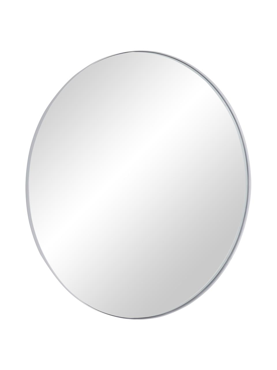Runder Wandspiegel Ivy mit weißem Rahmen, Rahmen: Metall, pulverbeschichtet, Spiegelfläche: Spiegelglas, Rückseite: Mitteldichte Holzfaserpla, Weiß, Ø 100 cm