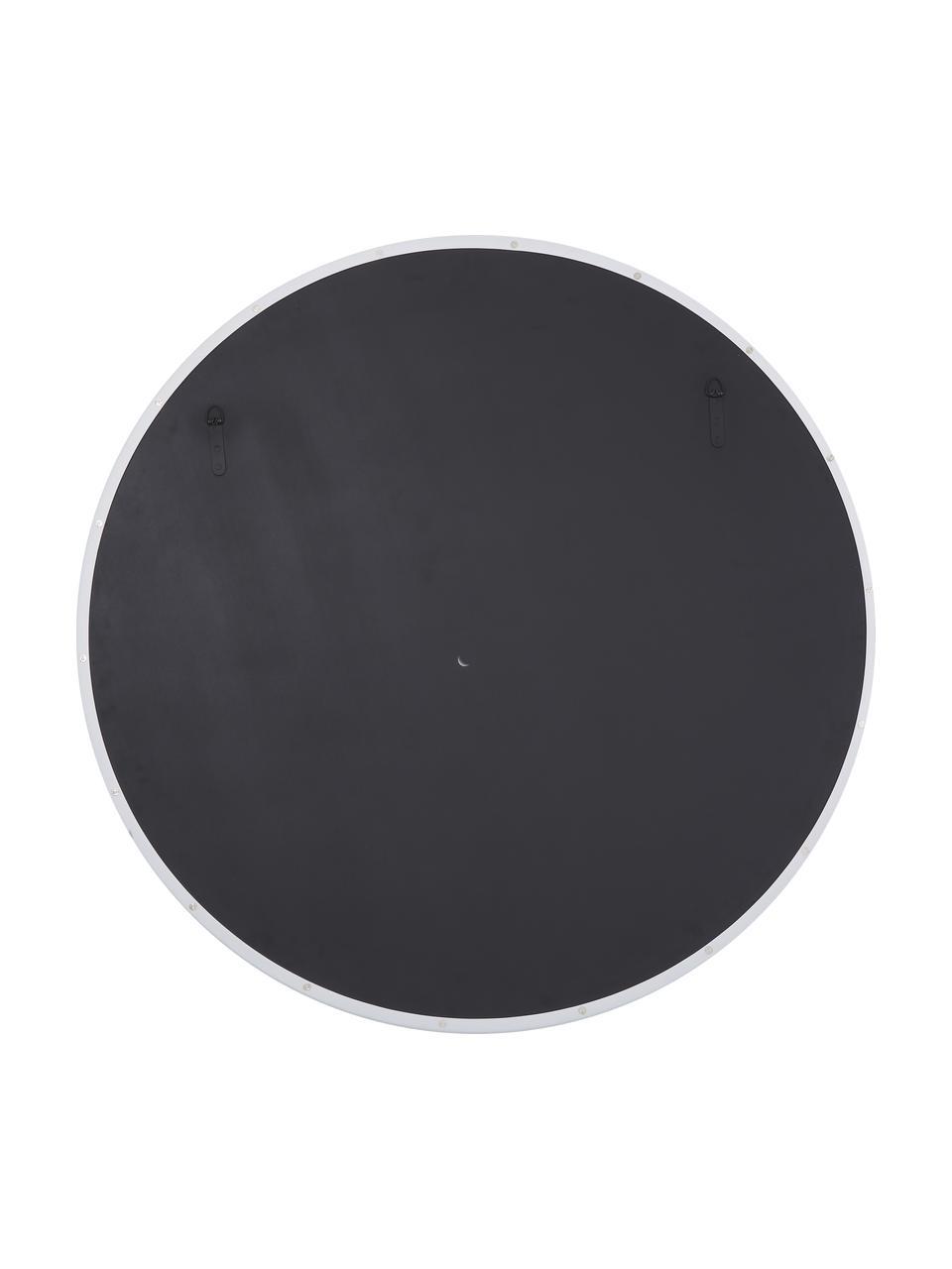 Runder Wandspiegel Ivy mit weißem Metallrahmen, Rahmen: Metall, pulverbeschichtet, Rückseite: Mitteldichte Holzfaserpla, Spiegelfläche: Spiegelglas, Weiß, Ø 100 x T 3 cm