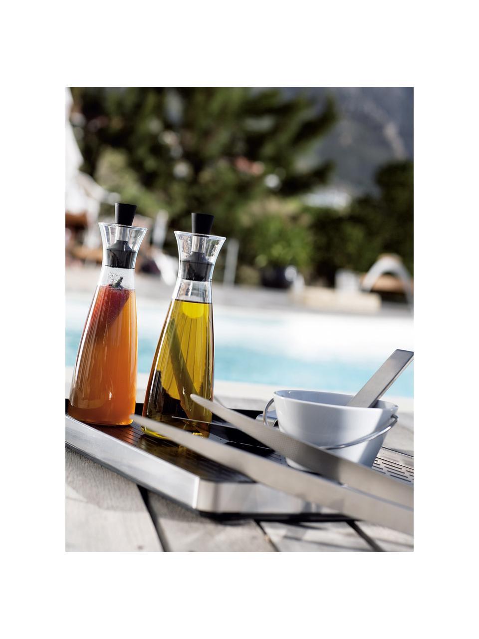 Designer Essig- und Öl-Spender Eva Solo, Glas, Edelstahl, Kunststoff, Transparent, Schwarz, Edelstahl, 0,5 l