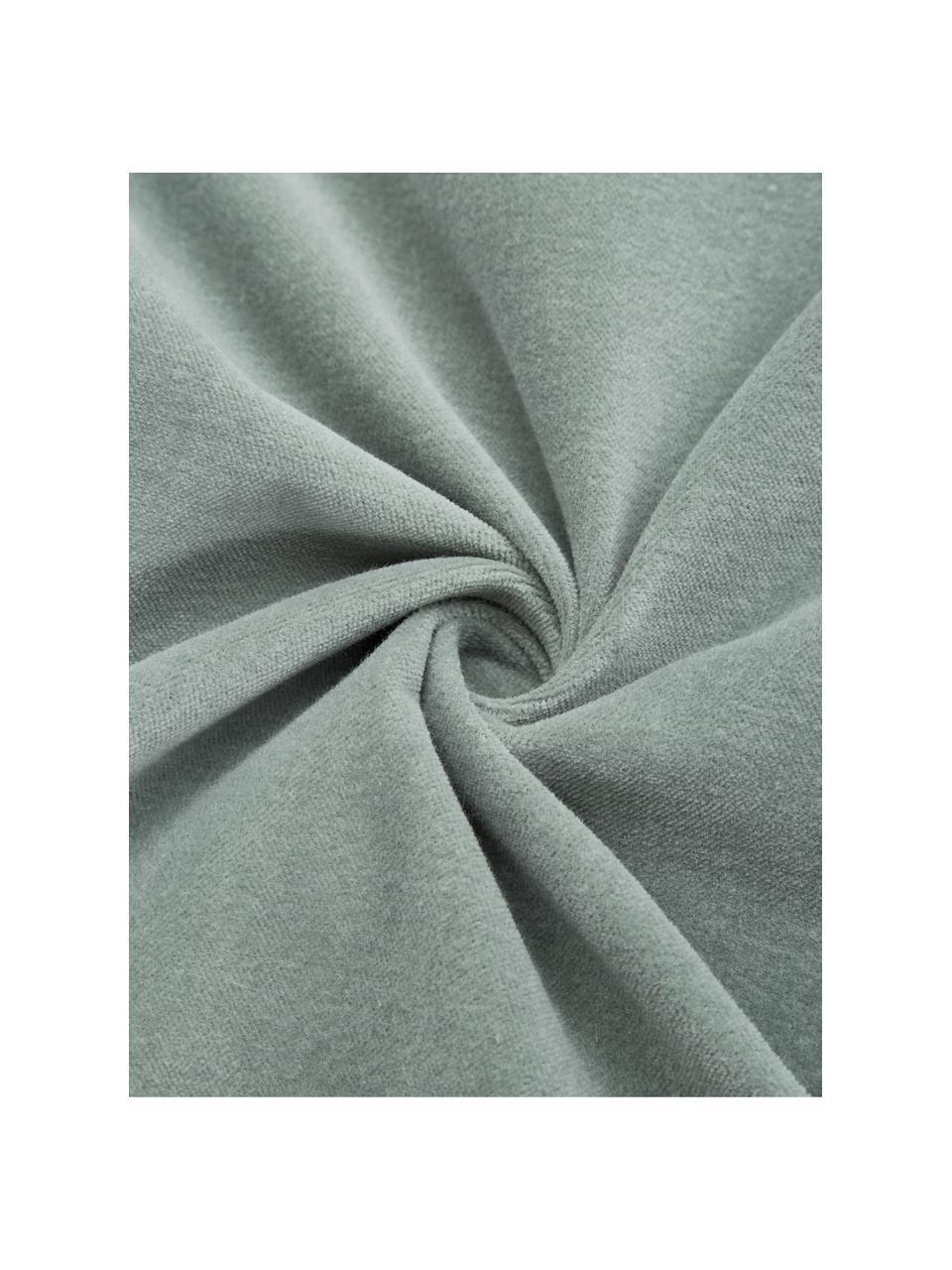 Federa arredo in velluto verde salvia Sina, Velluto (100% cotone), Verde, Larg. 45 x Lung. 45 cm