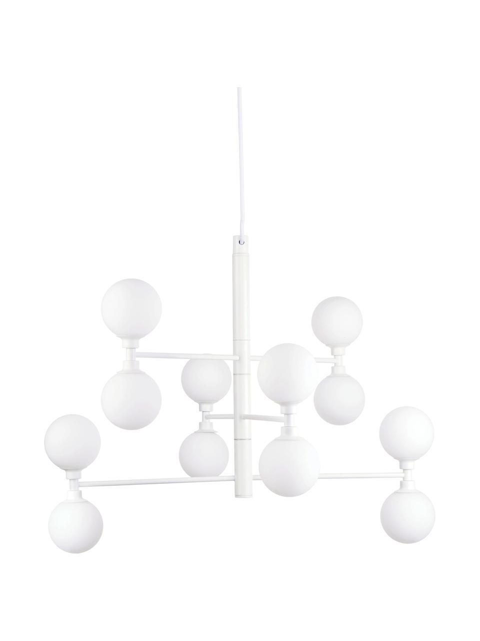 Grande suspension à globes en verre Grover, Blanc