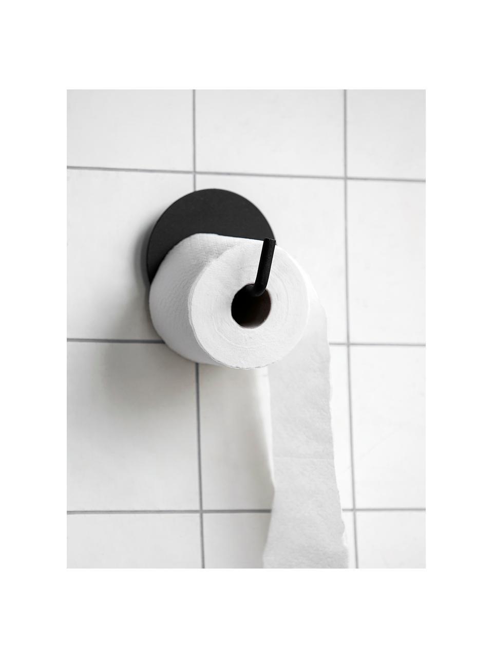Uchwyt na papier toaletowy z metalu Lema, Aluminium powlekane, Czarny, Ø 13 x G 12 cm