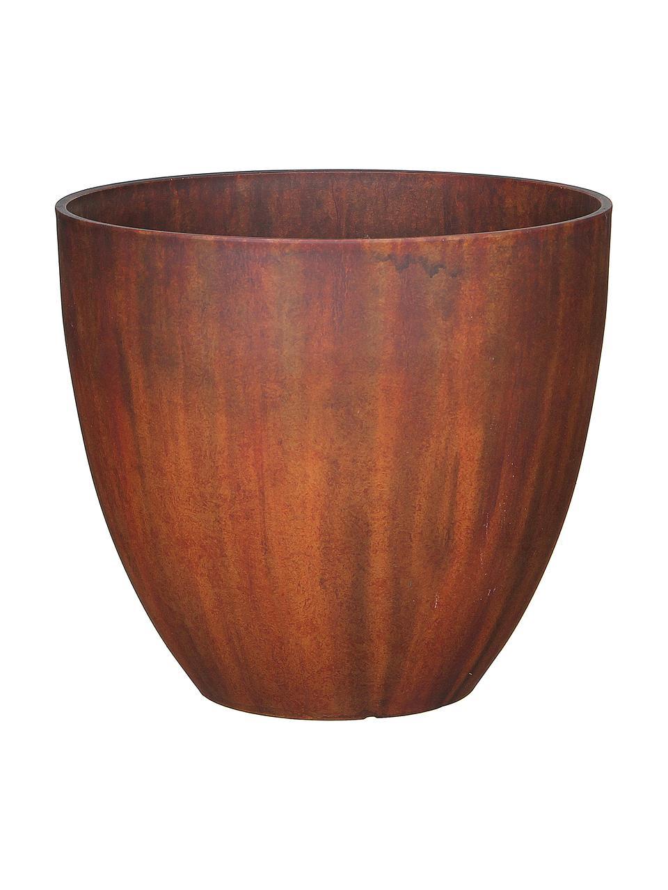 Großer Pflanztopf Bravo, Kunststoff, Braun, Ø 37 x H 33 cm