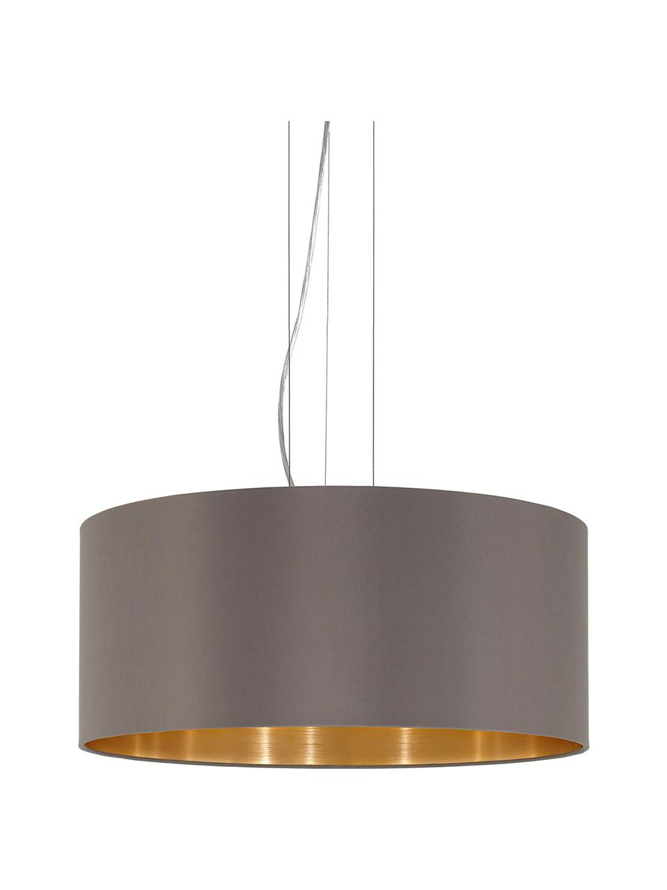 Lampada a sospensione Jamie, Baldacchino: metallo nichelato, Argentato, grigio-beige, Ø 53 x Alt. 24 cm