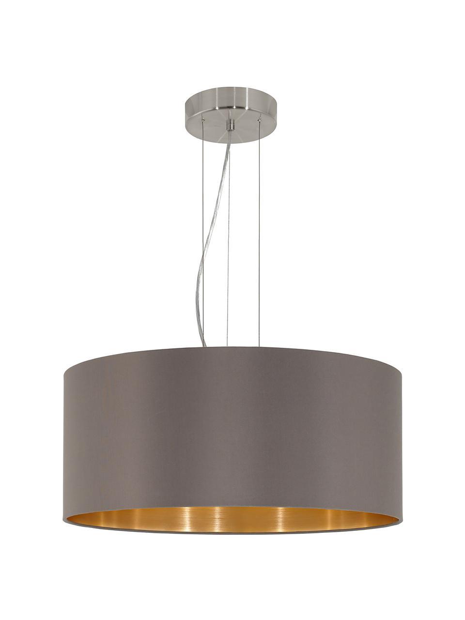 Lampa wisząca Jamie, Odcienie srebrnego, szary-beżowy, Ø 53 x W 24 cm