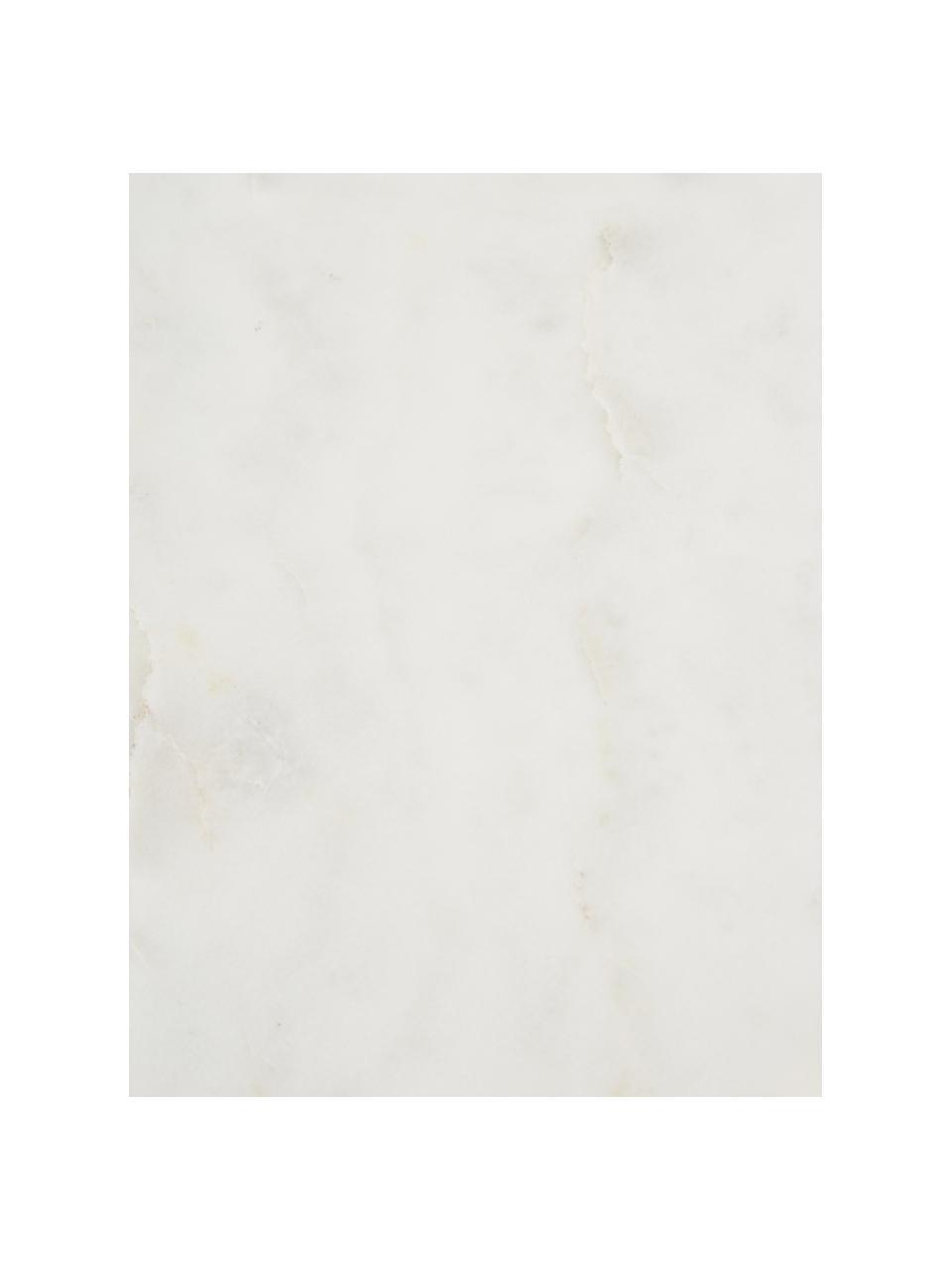 Mensola a muro in marmo Porter, Mensola: marmo, Montatura: acciaio inossidabile Mensola: bianco marmorizzato, Larg. 40 x Alt. 18 cm
