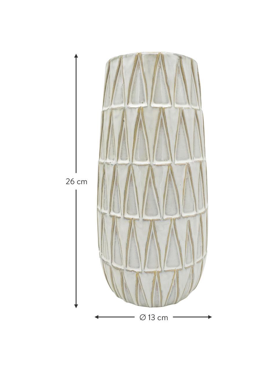 Vaso in ceramica Nomad, Ceramica, Bianco, Beige, Ø 13 x Alt. 26 cm
