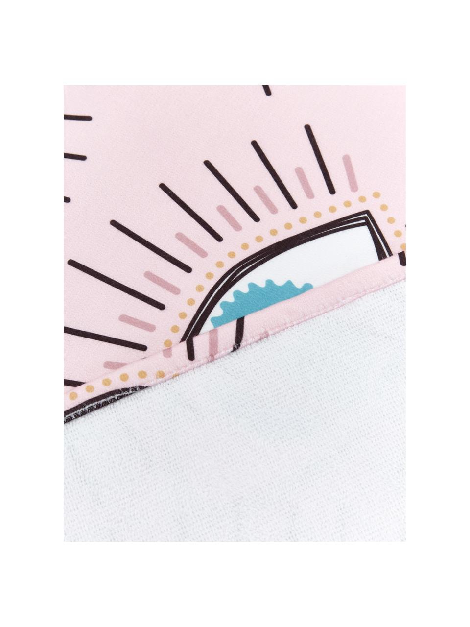 Leichtes Strandtuch Eyes mit Augenmotiven, 55% Polyester, 45% Baumwolle Sehr leichte Qualität, 340 g/m², Rosa, Mehrfarbig, 70 x 150 cm