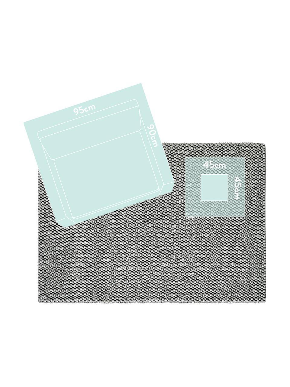 Tappeto in lana fatto a mano My Loft, Retro: cotone, Grigio argento, Larg. 160 x Lung. 230 cm (taglia M)