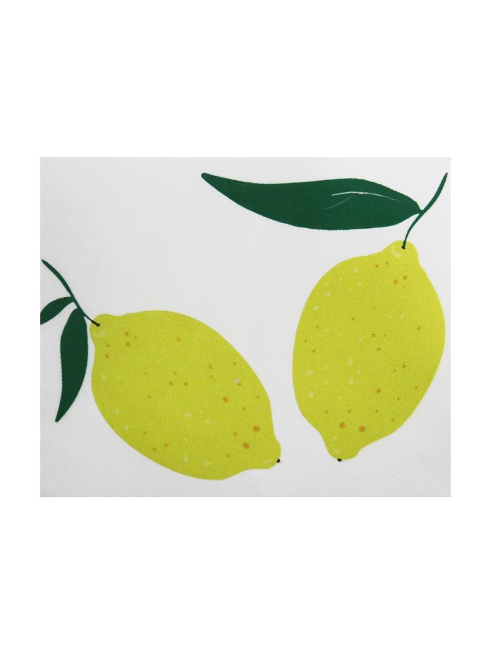 Federa arredo reversibile Lemon, Poliestere, Bianco, giallo, verde, Larg. 45 x Lung. 45 cm