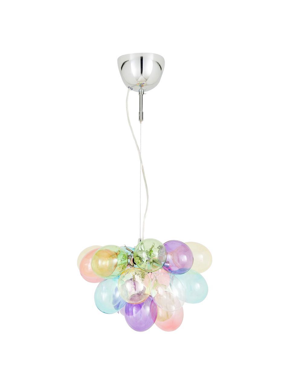Lampada a sospensione con sfere di vetro Gross, Baldacchino: metallo rivestito, Multicolore, Ø 30 x Alt. 28 cm