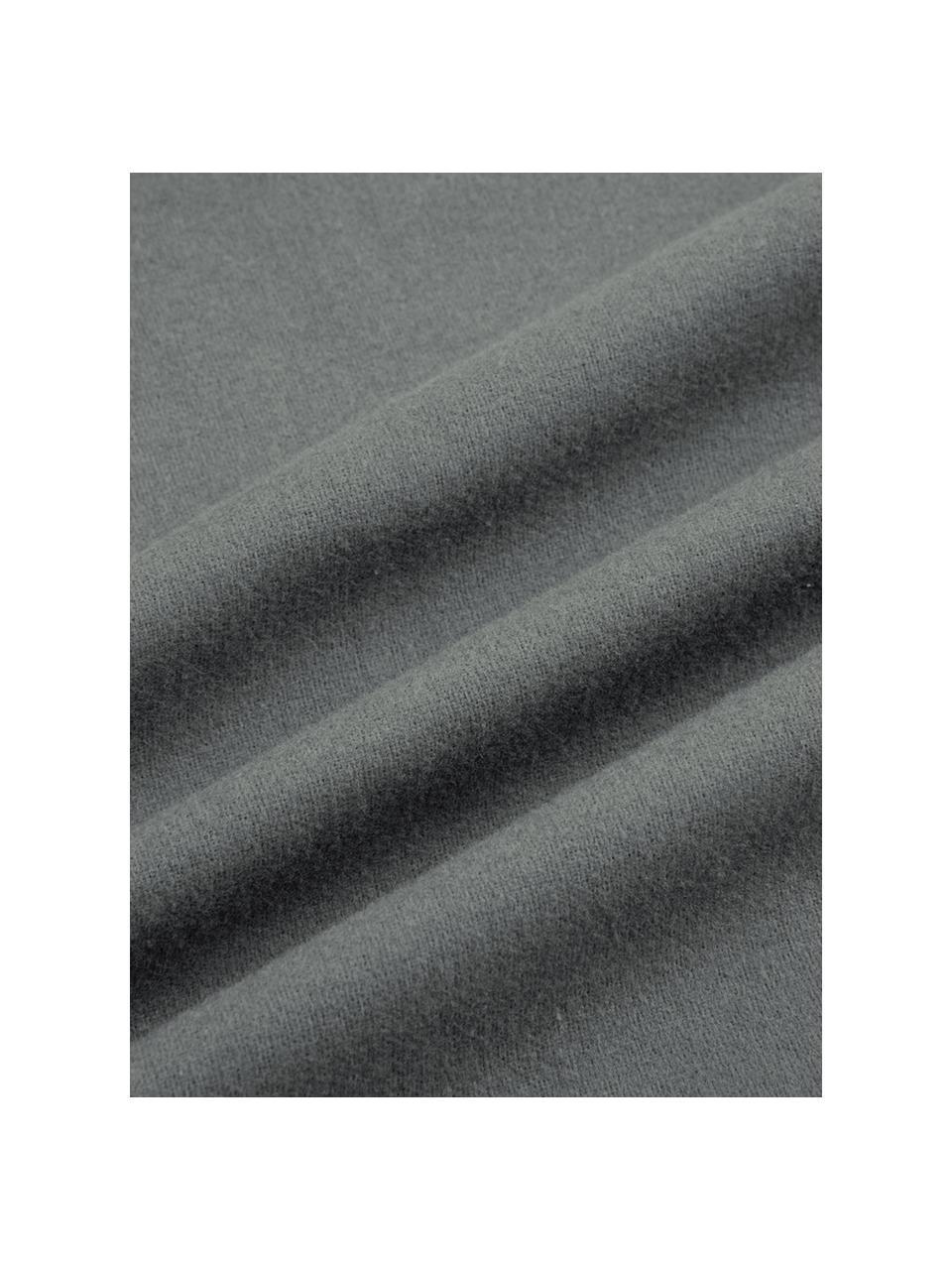 Flanell-Bettwäsche Biba in Grau, Webart: Flanell Flanell ist ein k, Grau, 135 x 200 cm + 1 Kissen 80 x 80 cm
