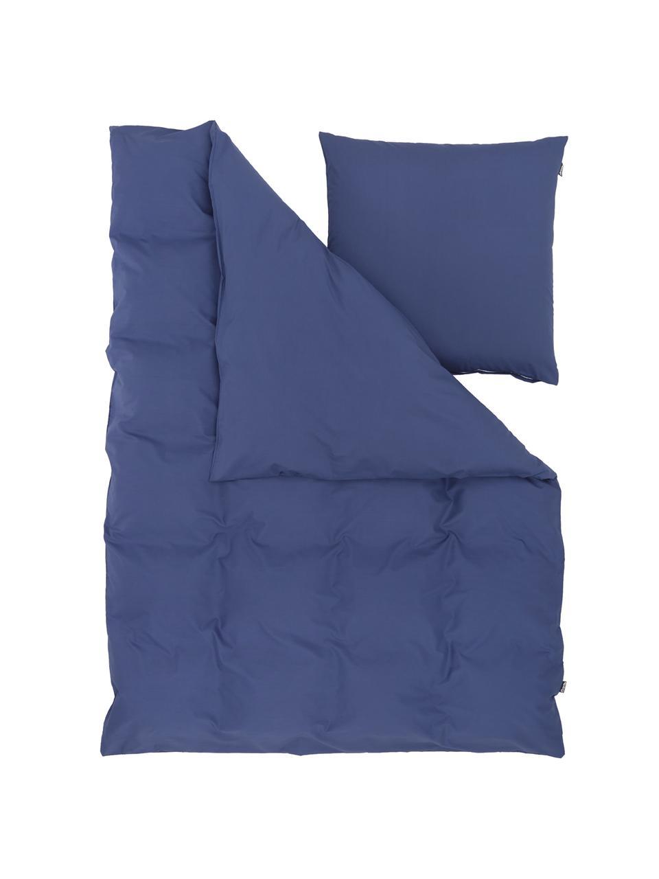 Pościel z bawełny Weekend, Ciemnyniebieski, 200 x 200 cm + 2 poduszki 80 x 80 cm