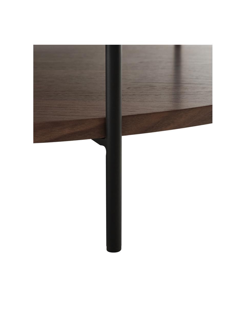 Grande table basse en bois avec rangement Renee, Brun