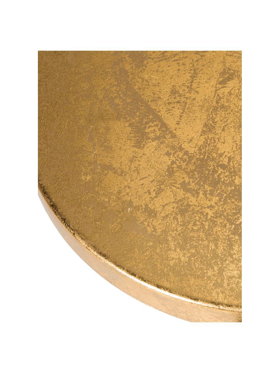 Sgabello da bar Sarah, Ferro, verniciato, Nero, dorato, Ø 34 x A 61 cm