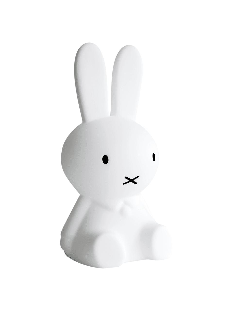 LED-Bodenleuchte Miffy, Polyethylen, Weiß, 25 x 50 cm