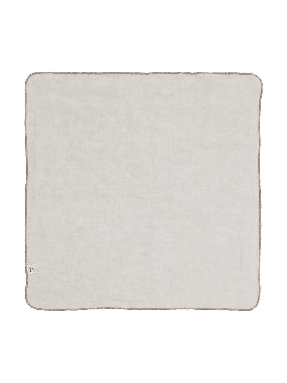 Leinen-Servietten Gracie in Hellgrau, 2 Stück, Natur-Leinen, Grau, 45 x 45 cm