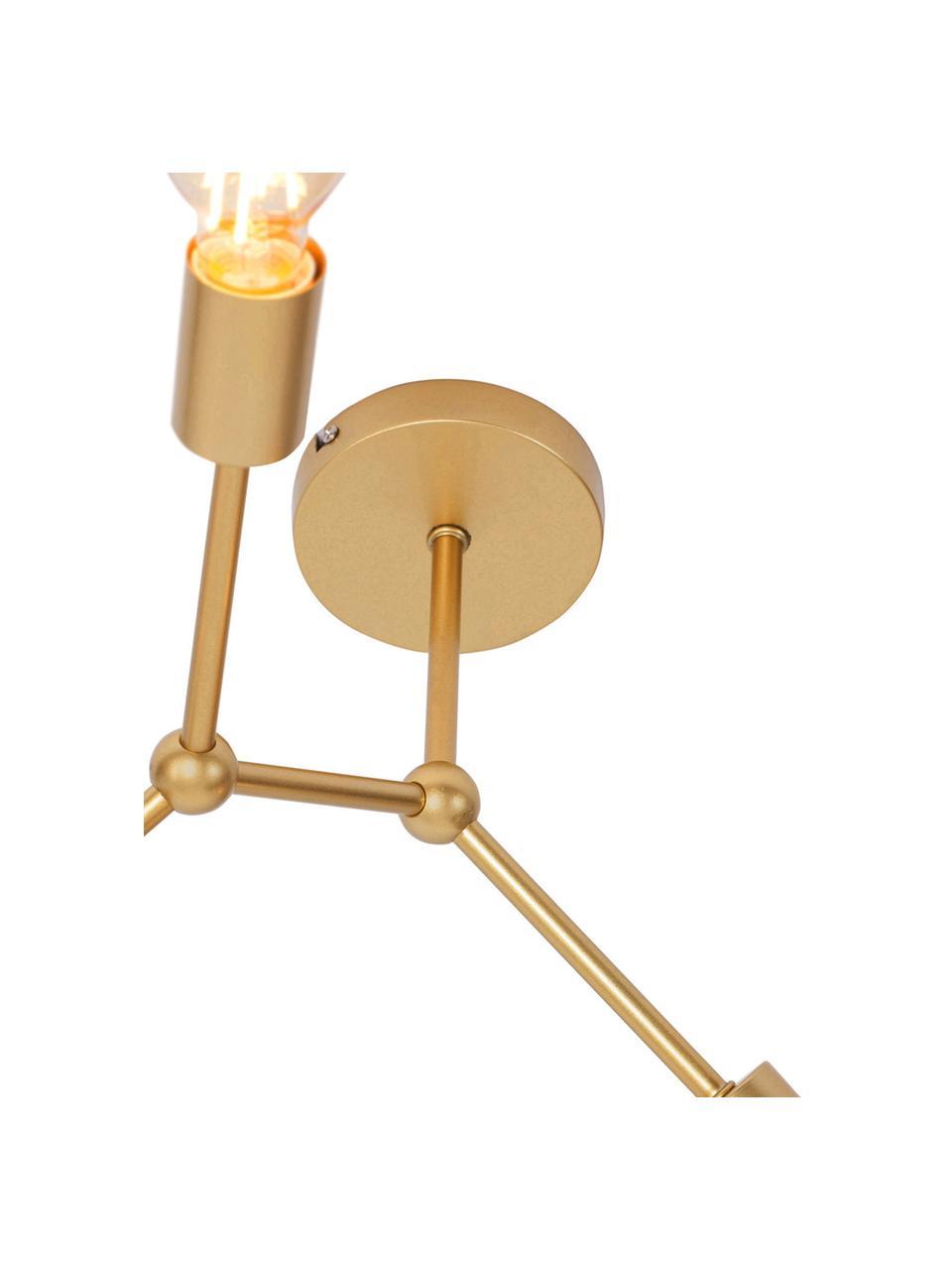 Deckenleuchte Ilias in Gold, Baldachin: Aluminium, beschichtet, Messingfarben, Ø 45 x H 45 cm