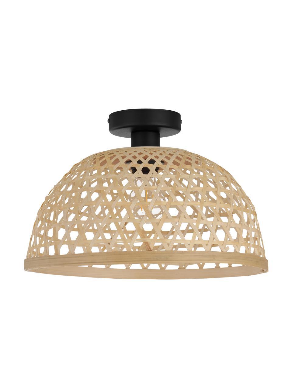 Lampa sufitowa z drewna bambusowego Claverdon, Jasny brązowy, Ø 37  x W 25 cm