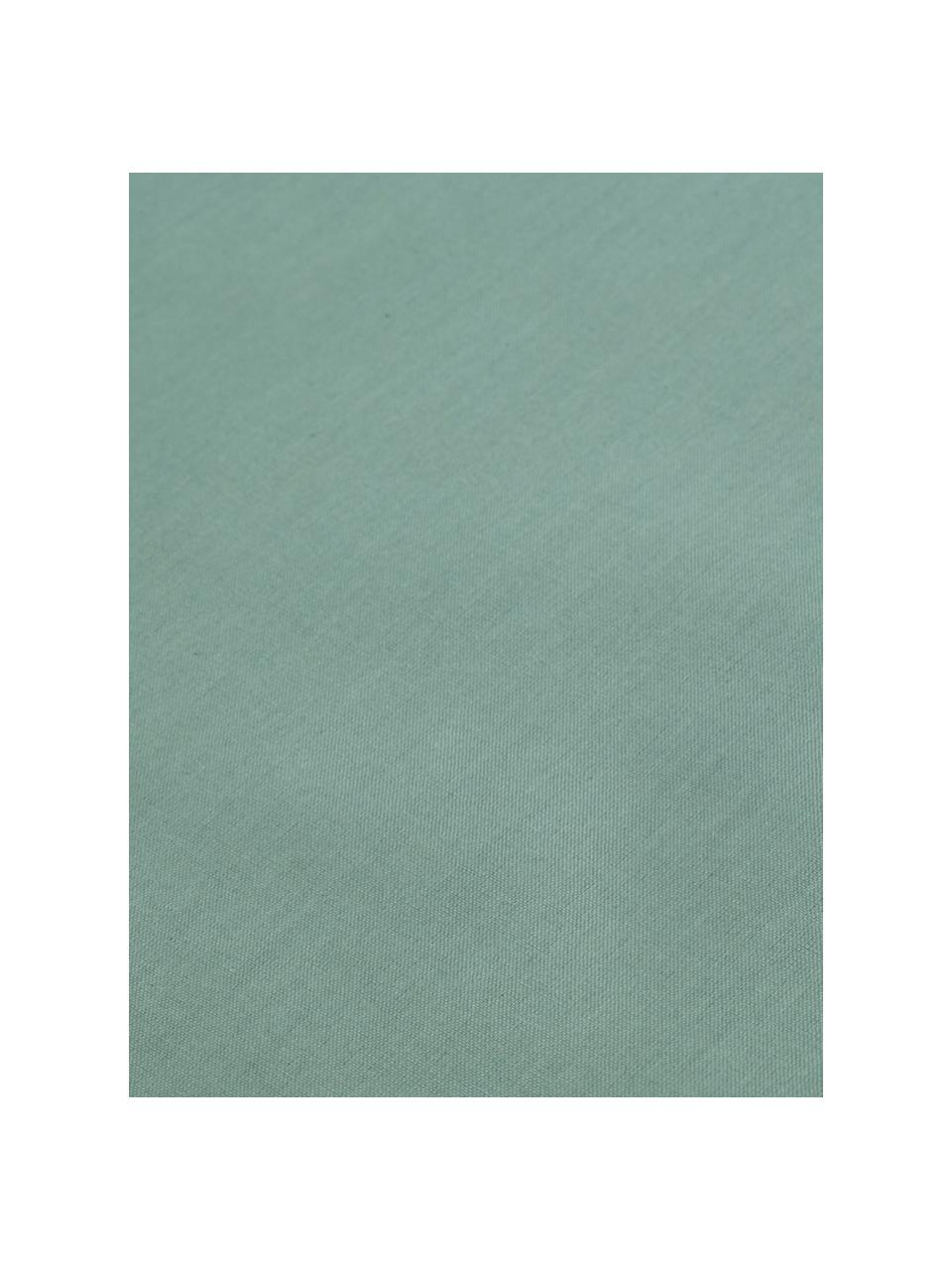 Set lenzuola verde in cotone ranforce Lenare, Fronte e retro: verde reseda, 180 x 290 cm + 1 federa 50 x 80 cm