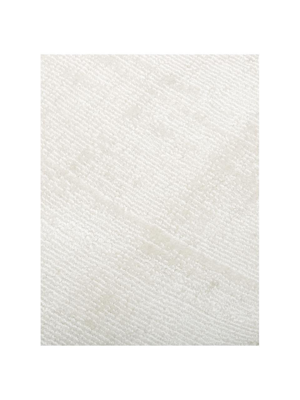 Handgewebter Viskoseteppich Jane in Elfenbeinfarben, Flor: 100% Viskose, Elfenbeinfarben, B 120 x L 180 cm (Größe S)