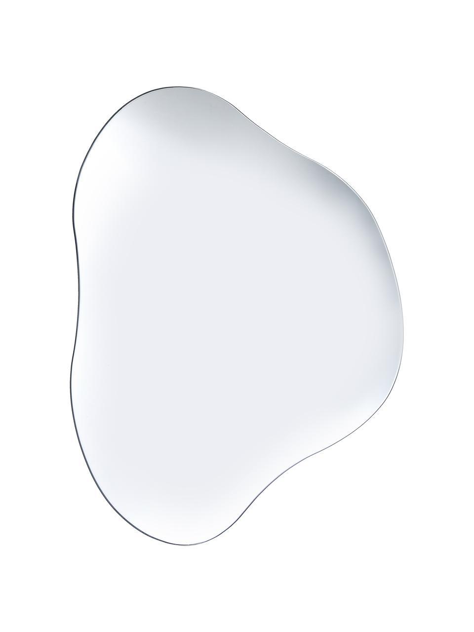 Specchio da parete Lake, Superficie dello specchio: lastra di vetro, Retro: pannello di fibra a media, Argento, Larg. 50 x Alt. 50 cm
