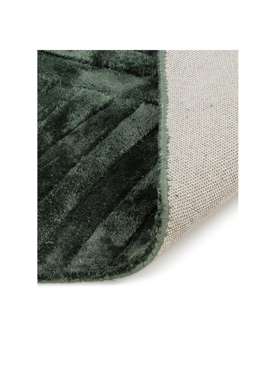 Ręcznie tuftowany dywan z wiskozy Bloom, Ciemnyzielony, S 120 x D 180 cm (Rozmiar S)