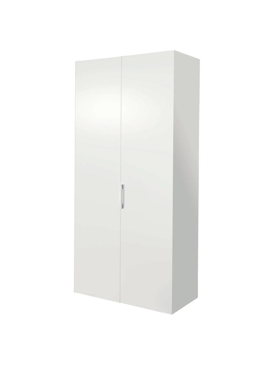 Kleiderschrank Madison mit 2 Türen in Weiß, Korpus: Holzwerkstoffplatten, lac, Weiß, 102 x 227 cm