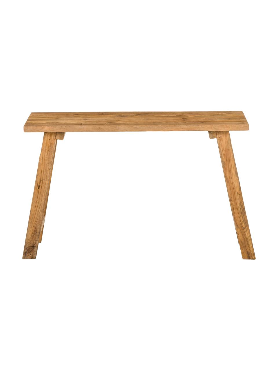 Konsola z drewna naturalnego z recyklingu Lawas, Naturalne drewno tekowe, Drewno tekowe, S 120 x G 40 cm