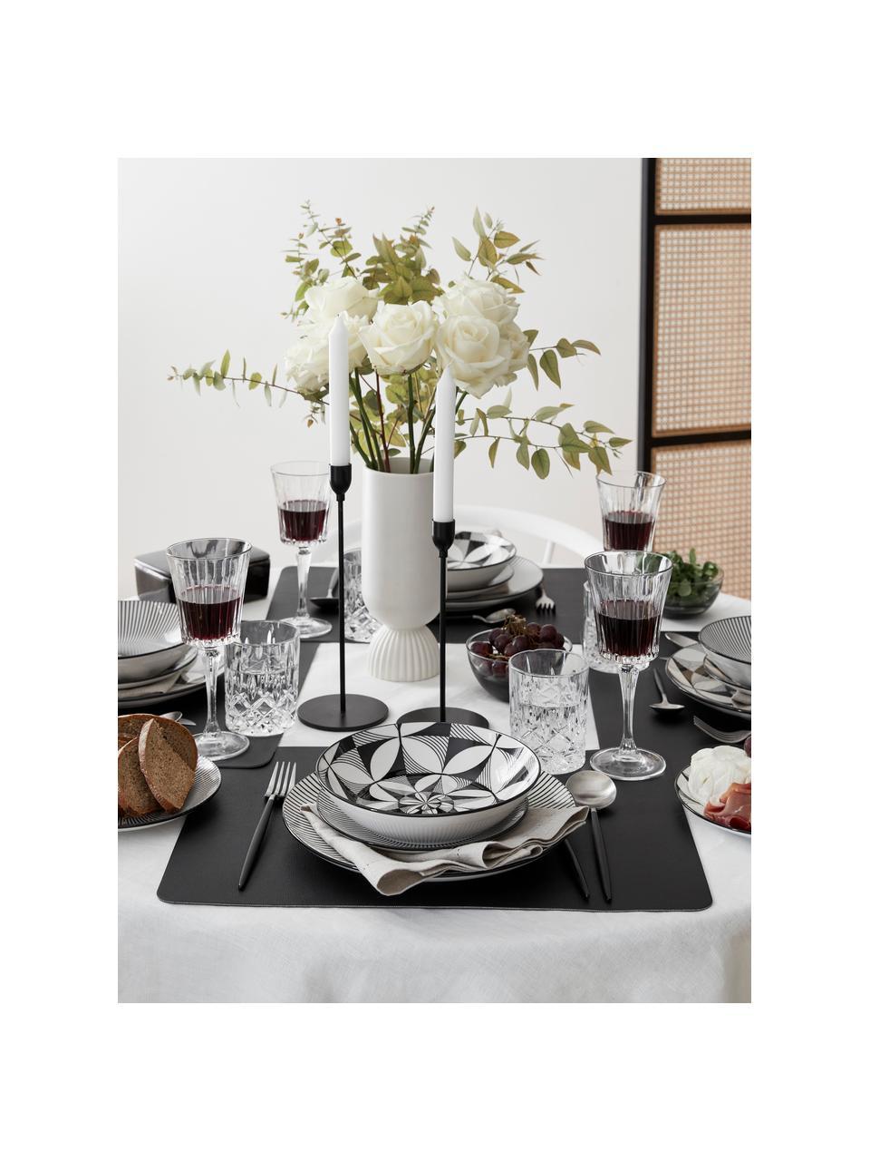 Kristall-Rotweingläser Timeless mit Rillenrelief, 6 Stück, Luxion-Kristallglas, Transparent, Ø 9 x H 21 cm