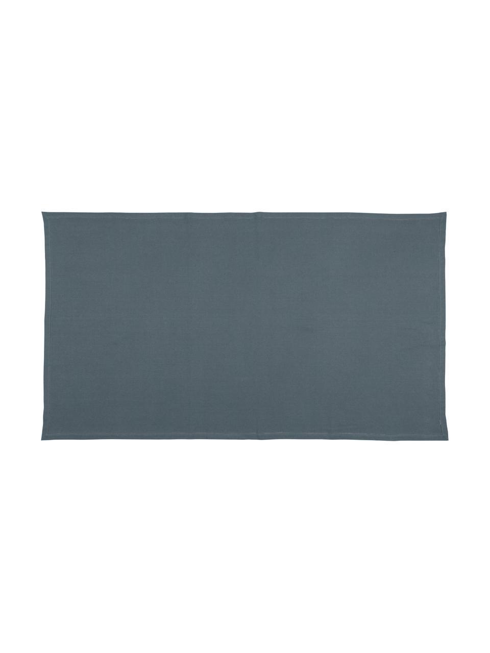 Baumwoll-Tischdecke Indi mit Lochstickerei, Baumwolle, Dunkelgrau, Für 6 - 10 Personen (B 140 x L 250 cm)