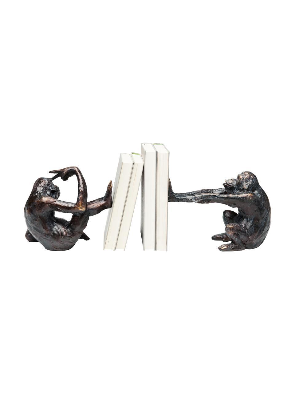 Serre-livres fait à la main Singe, 2 élém., Noir