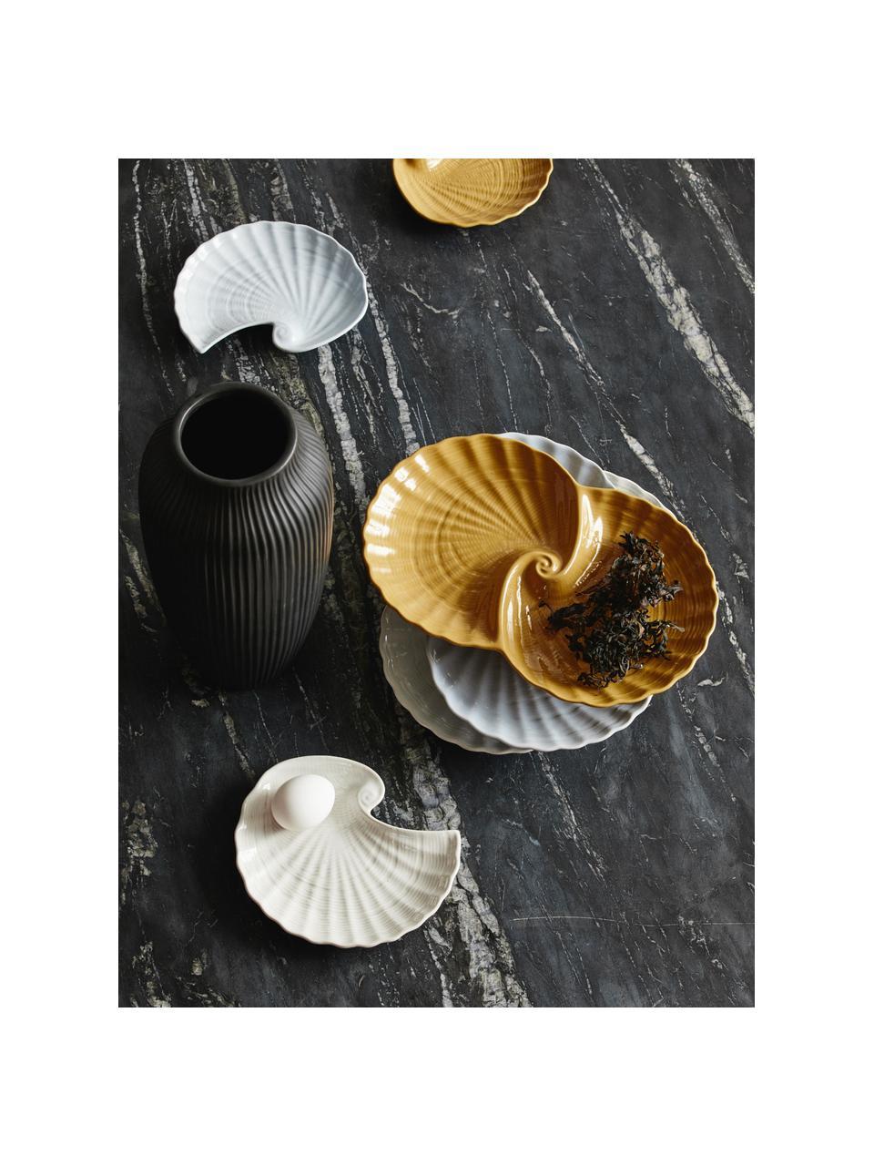 Deko-Schale Gullfoss, Keramik, Weiß, B 30 x T 20 cm