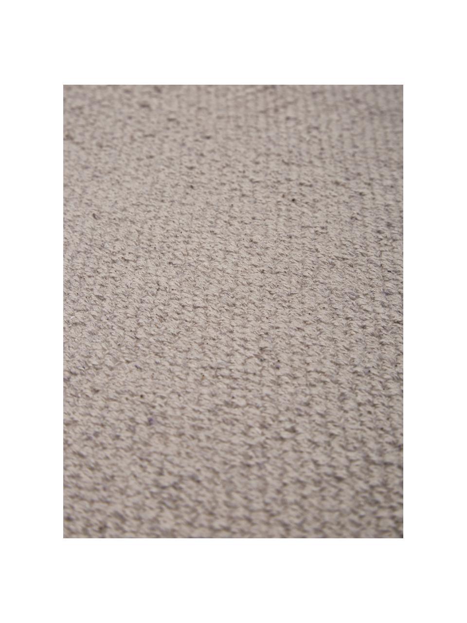 Tappeto in cotone tessuto a mano Agneta, 100% cotone, Grigio, Larg. 200 x Lung. 300 cm (taglia L)