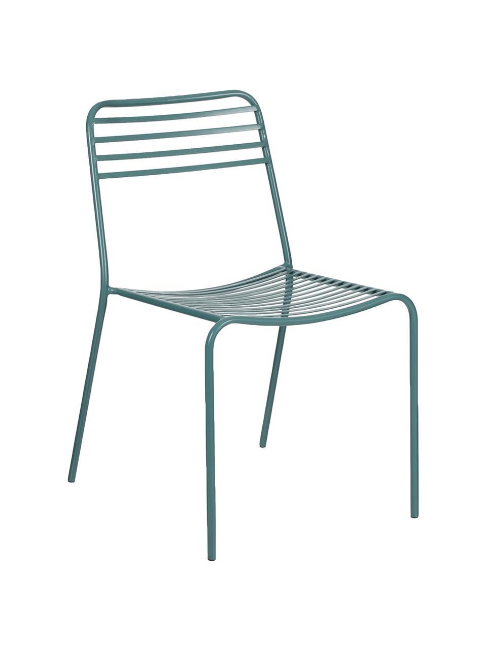 Kovová balkonová židle Tula, 2 ks, Zelená