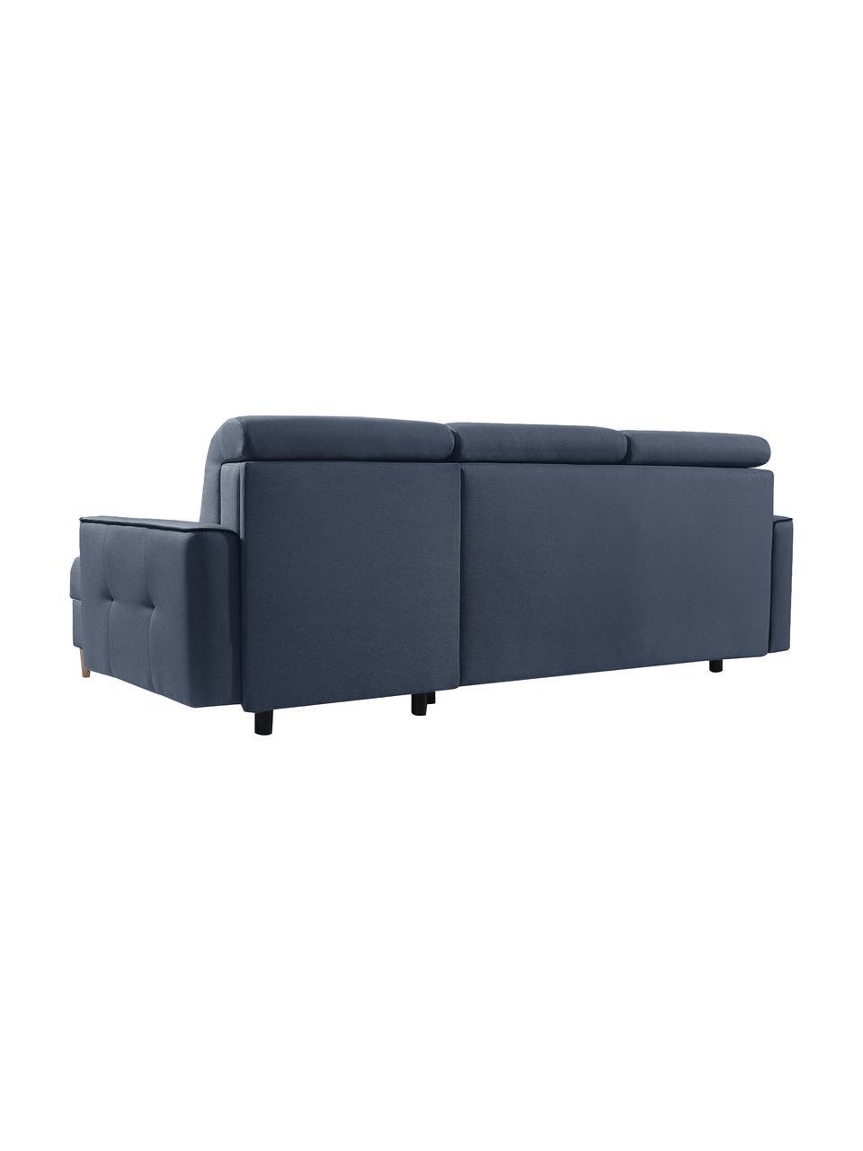 Sofa narożna z funkcją spania i miejscem do przechowywania Hilton (4-osobowa), Tapicerka: 100% poliester, Antracytowy, S 234 x G 146 cm