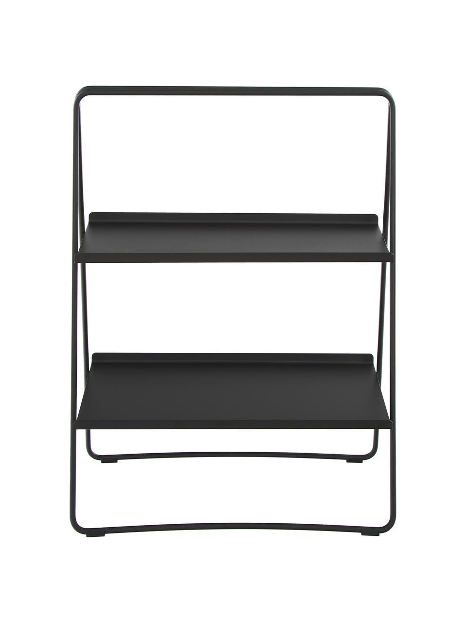 Regał drabinkowy Aguina, Stal lakierowana, Czarny, S 53 x W 75 cm