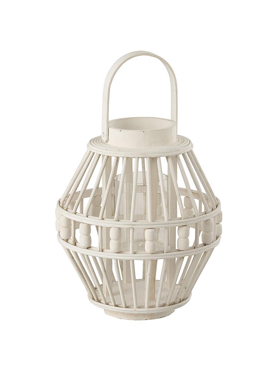 Lanterna bianca Pearl, Bianco, Ø 26 x Alt. 27 cm