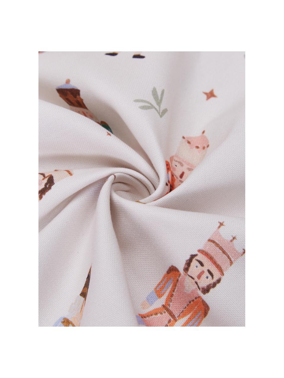 Designer Wende-Kissenhüllen-Set Nutcracker von Candice Gray, 2-tlg., 100% Baumwolle, GOTS zertifiziert, Mehrfarbig, 45 x 45 cm