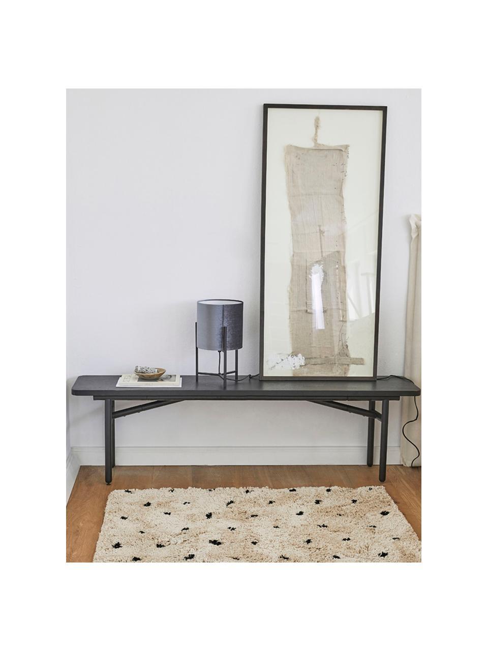 Načechraný koberec s vysokým vlasem Ayana, tečkovaný, Béžová, černá